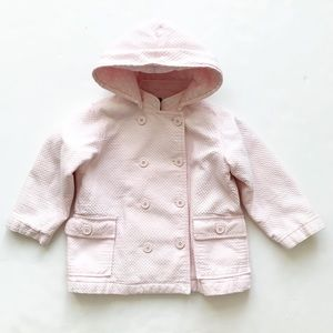 BabyGap pink textured hooded jacket GUC  4T
